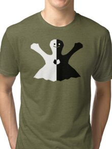 Smiling Happy Heart Ghost by Jac Tri-blend T-Shirt