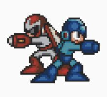 Megaman And Protoman by GreenTheRival