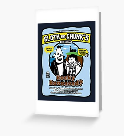 Sloth and Chunk's Ice Cream Greeting Card