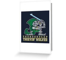 Thunderclap Thievin' Wolves Greeting Card