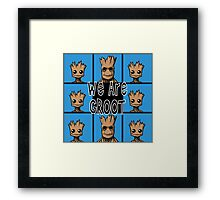Brady Bunch Groot! Framed Print