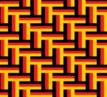 German Tricolor in Herringbone Pattern Sticker