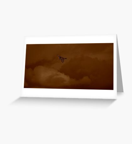 Vulcan Over the UK Greeting Card