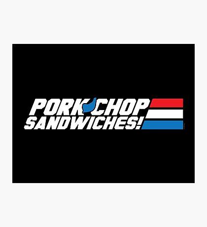 Pork Chop Sandwiches! Photographic Print