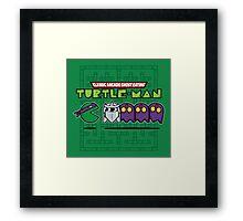 Hero in a Waka Waka Shell (Purple) Framed Print