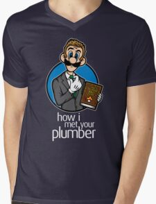 How I Met Your Plumber Mens V-Neck T-Shirt