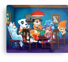 Video Game Dogs Playing Poker Metal Print