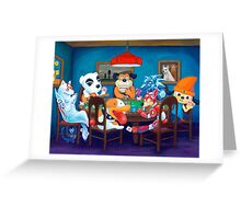 Video Game Dogs Playing Poker Greeting Card