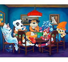 Video Game Dogs Playing Poker Photographic Print
