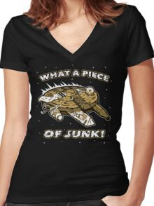 What a Piece of Junk! Women's Fitted V-Neck T-Shirt