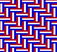 Netherlands Tricolor Herringbone Pattern Sticker