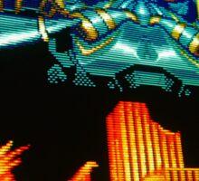 Forgotten Worlds scanline pixel art Sticker