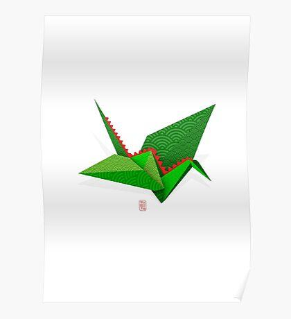 Origami CraneDragon Poster