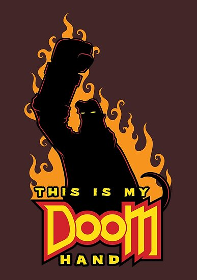 This is My Doom Hand by mikehandyart