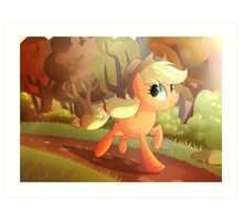 Applejack- Running Of The Leaves Art Print