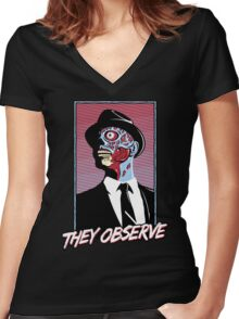 They Observe Women's Fitted V-Neck T-Shirt