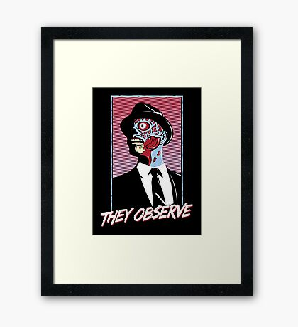 They Observe Framed Print
