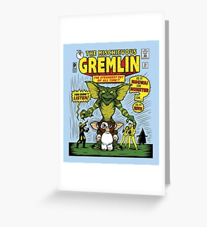 The Mischievous Gremlin Greeting Card