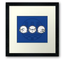 Boo No Evil Framed Print