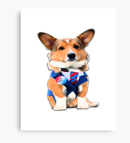 cute dog voting 2016 presidential elections funny Canvas Print