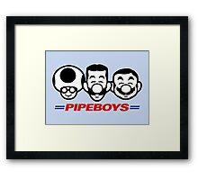 Pipe Boys Framed Print