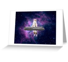 Keyboard kitty Greeting Card