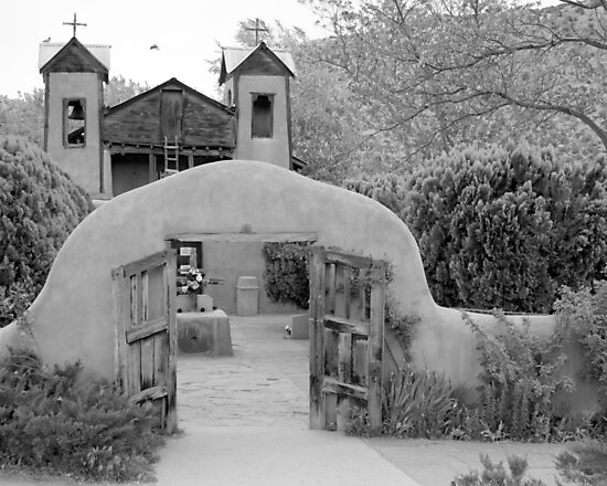 The Mission Church, Santuario de Chimayo, Chimayo, New Mexico by Jeff Chavez