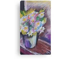 Oil Flower Pot Canvas Print