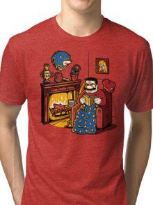 A Quiet Evening at Home Tri-blend T-Shirt