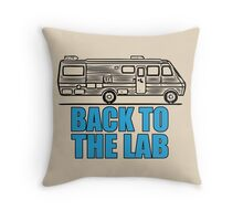 Back to the Lab Throw Pillow
