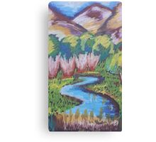 Oil Lake Canvas Print