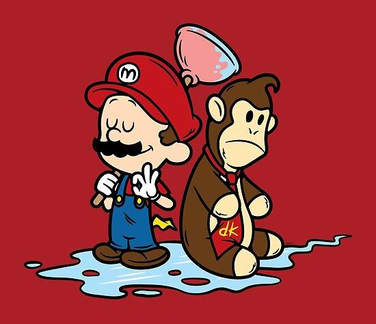 Mario and Kong by mikehandyart