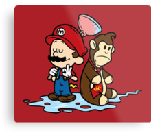 Mario and Kong Metal Print