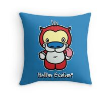 Hello Eediot Throw Pillow
