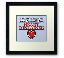 Lousy Heart Container Framed Print