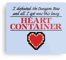 Lousy Heart Container Metal Print