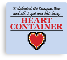 Lousy Heart Container Canvas Print