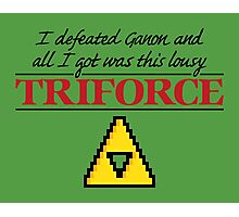 Lousy Triforce Photographic Print