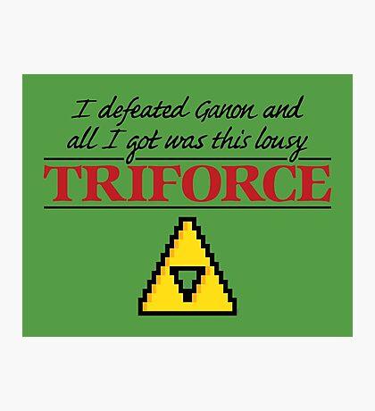 Lousy Triforce Photographic Print