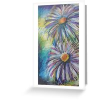 Oil Flowers Greeting Card