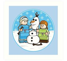 Want to Build a Snowman? Art Print