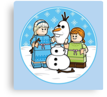 Want to Build a Snowman? Canvas Print