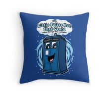 The Little Police Box Throw Pillow