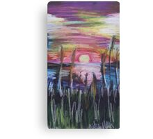 Oil Sunset Canvas Print