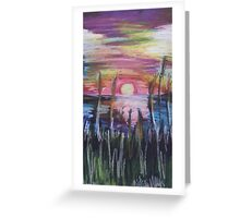Oil Sunset Greeting Card