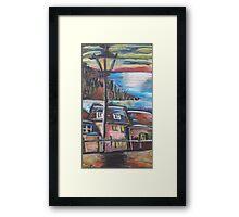 Oil Beachside Framed Print