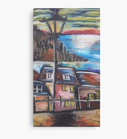Oil Beachside Canvas Print