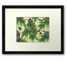 Little Leaf Village Framed Print
