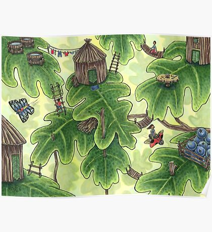 Little Leaf Village Poster