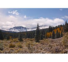 Last day of Summer in the Colorado high country Photographic Print